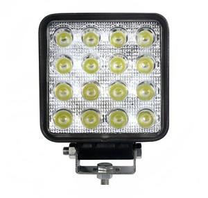 "4"" Square 48 Watt LED Work Light Medium Beam 30°"