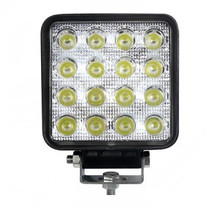 "4"" Square 48 Watt LED Work Light Medium Beam 90° wide flood."