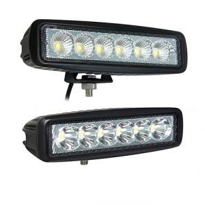 """18 Watt Mini 6"""" LED Light Bar SPOT BEAM."""