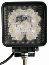 "4"" Square 27 Watt LED Work Light Flood Beam"