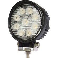 "4"" Round 27 Watt LED Work Light Flood Beam"