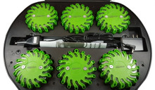 Pro Light LED Safety Flare (Green) 6 Pack W/ Rechargeable Case and Charger
