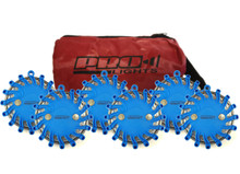 Pro Light LED Safety Flare (Blue) 6 Pack In Travel Bag W/ Replaceable CR123 Lithium Battery