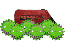 Pro Light LED Safety Flare (Green) 6 Pack In Travel Bag W/ Replaceable CR123 Lithium Battery