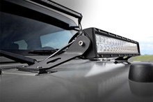 "07-15 Jeep JK 20"" Double Row Light Bar Hood Mount"