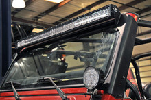 "97-06 Jeep TJ 50"" Straight Double Row Light Bar Windshield Mount"