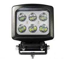 60 Watt Rectangular Heavy Duty LED Work Light Flood Beam 90°