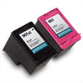 Remanufactured HP 901XL Black & HP 901 Colour Twin PACK