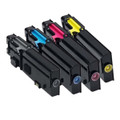 Set of 4 Compatible Toner Cartridge For DELL C2660dn C2665dn C2665dnf Printer
