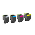 Set of 4 Toner For Lexmark CX410 CX410e CX410de CX410dte CX510 CX510de CX510dhe