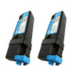 2 Cyan Toner Cartridge For Dell 1320 1320C 1320CN