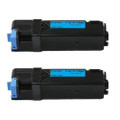 2 Cyan Toner Cartridge For Dell 2150cn 2150cdn 2155cn 2155cdn