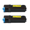 2 Yellow Toner Cartridge For Dell 2150cn 2150cdn 2155cn 2155cdn