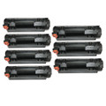 7 Black CE285A Toner Cartridges For HP LaserJet Pro P1102 P1102w M1130 M1132mfp