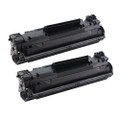 2 Black Toner Cartridges Replace CF283X For HP LaserJet Pro M201dw M201n