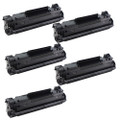 5 Black Toner Cartridges Replace CF283X For HP LaserJet Pro M201dw M201n