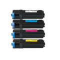 Set of 4 Toner Cartridge For DELL 2150 2150cn 2150cdn 2155cn 2155cdn