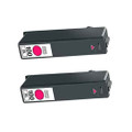 2 Magenta Ink Cartridges For Lexmark 100XL 705 S602 S405 202