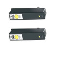 2 Yellow Ink Cartridges For Lexmark 100XL 705 S602 S405 202