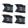 4 Cyan Ink Cartridges For Brother LC-1280 DCP J525W J725DW 925DW