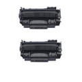 2 Toner Cartridge for HP CE505A Printer P2055X P2050 P2055 P2055D P2055DN