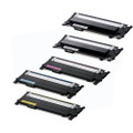 5 Toner Cartridges For Samsung CLT406 Xpress SL-C410W SL-C460W SL-C460FW