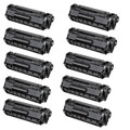 10 Black Compatible CE285A Toner For HP LaserJet Pro P1102 P1102w M1130 M1132mfp