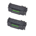 2 Black Toner For HP Q7553X 53X P2014 P2015 P2015d P2015dn P2015n P2015x M2727