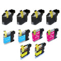 10 Ink Cartridges For Brother LC127 DCP-J4110DW MFC J4410DW J4510DW