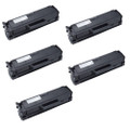 5 Black Toner Cartridges For Samsung MLT-101 ML-2160 ML-2165 ML-2165W ML-2168