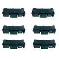 6 Black Toner Cartridges For Samsung SL-M2875FW SL-M2875ND M2625
