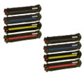 8 Toner Cartridge For HP CP1525 CP1525N CM1415FN CM1415FNW