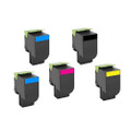 5 Toner Cartridges For Lexmark CX510de CX510dhe CX510dthe