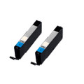 2 Cyan Ink Cartridges For Canon Pixma CLI571XL MG5750 MG5751 MG5752 MG5753