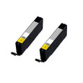 2 Yellow Ink Cartridges For Canon Pixma CLI571XL MG6850 MG6851 MG6852 MG6853