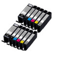 12 Ink Cartridges For Canon Pixma PGI570XL/CLI571XL MG7753 MG7752