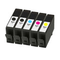 5 Remanufatured Ink Cartridges For HP 903XL Officejet Pro 6950 6960 AiO