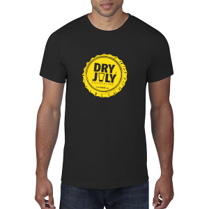 Dry July Mens Bottlecap T-Shirt