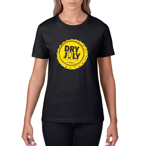 Dry July Ladies Bottlecap T-Shirt
