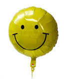 "Smiley Face 18"" Air Filled Balloon on a Stick"