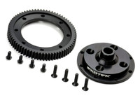 D418 MACHINED 72 SPUR GEAR AND MOUNTING PLATE
