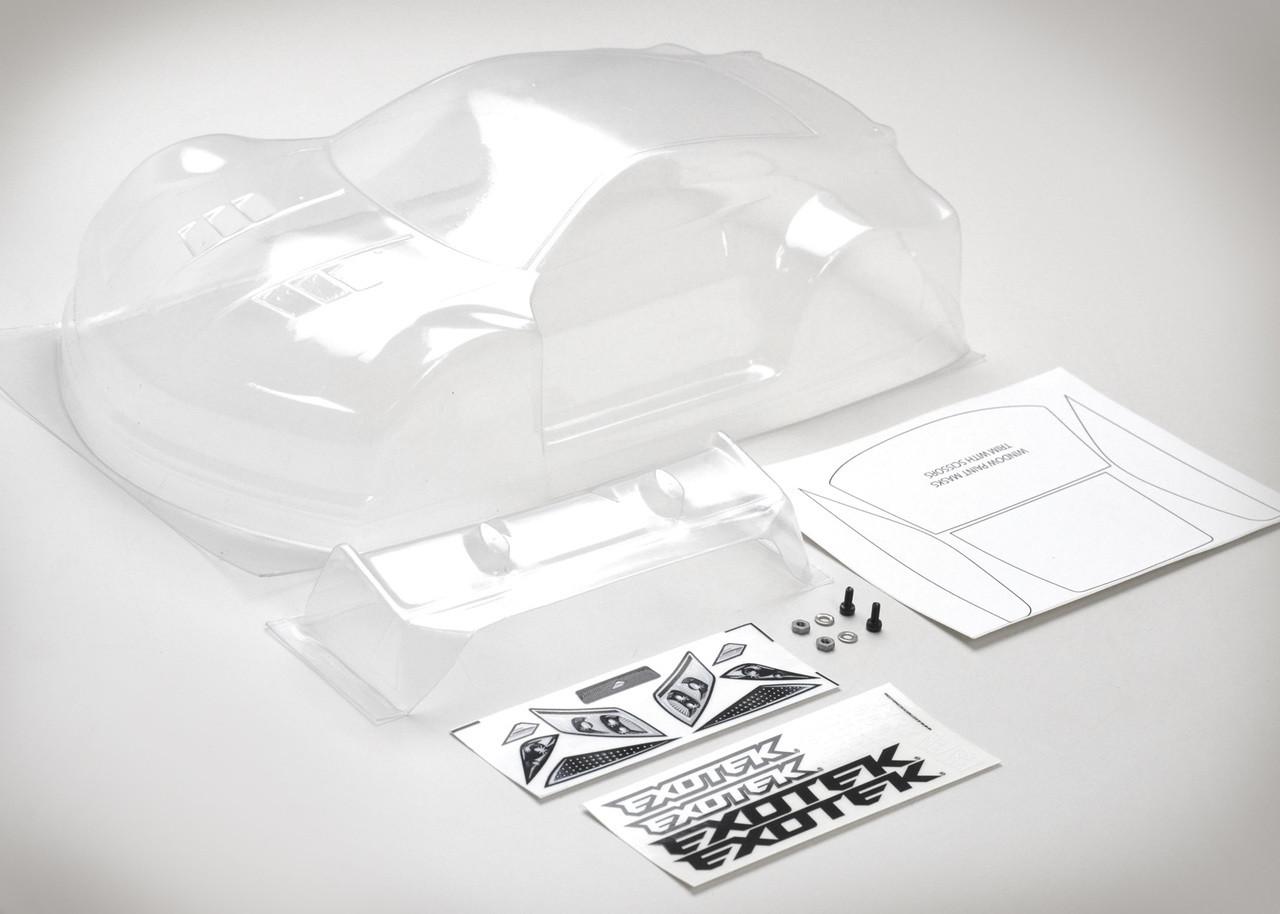 Exotek 1947 P1-Z USGT Race Clear Lexan Body w// Wing P1Z
