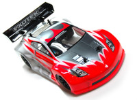GT-Z BODY SET FOR MINI APEX TOURING, clear lexan race body w/ wing