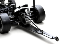 "SLASH WHEELIE BAR SET, single wheel, 12"" legal"