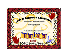 Junior Leader certificates