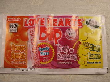 Love Hearts Sherbet Dip x 3