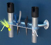 2 Rod Boat/Hook/Plier Console Rack