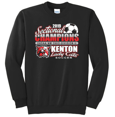 KHS Lady Cat Soccer Sectional Champions - CREW Sweatshirt
