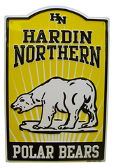 HARDIN NORTHERN POLAR BEARS METAL SIGN
