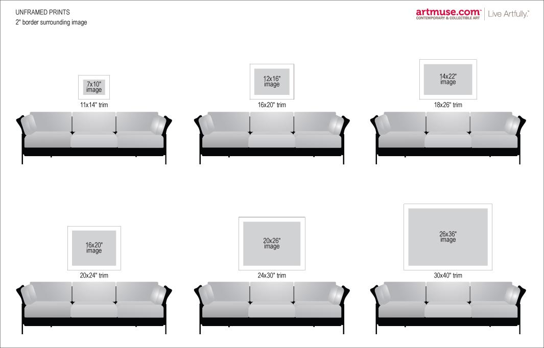 Unframed Prints Size Chart